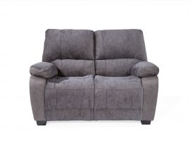 Hastings 2 Seater Fabric Sofa - Grey Finish