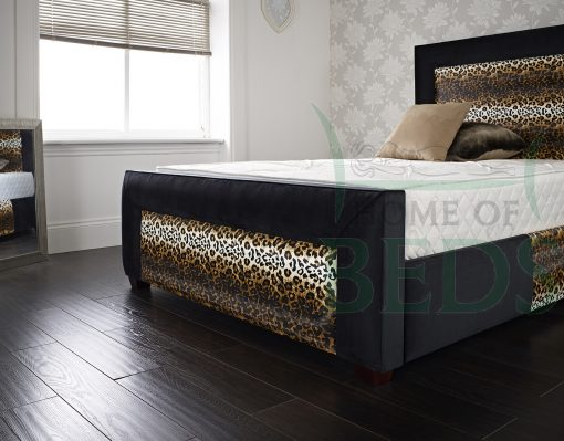 Home Of Beds Jaguar Small Double Fabric Bed Frame Footboard