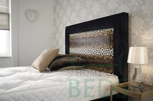 Home Of Beds Jaguar Small Double Fabric Bed Frame Headboard