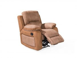 Monterray 1 Seater Recliner Chair - Brown Finish
