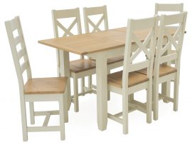 Vida Living Rochelle Solid Pine 1200 Extension Dining Set-0