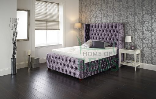 Home Of Beds Viceroy Crushed Velvet Small Double Bed Frame