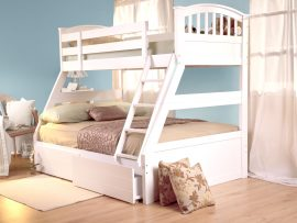 Sweet Dreams Apollo White Triple Bunk Beds