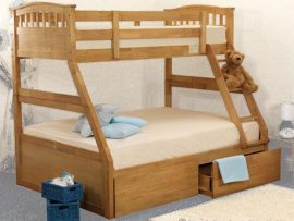 Apollo Oak Triple Bunk Bed With Drawers