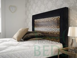 Home Of Beds Jaguar Double Fabric Bed Frame Headboard