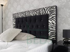 Home Of Beds Safari Double Fabric Bed Frame Headboard