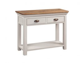Annaghmore Lyon Stone Painted Oak 2 Drawer Console Table