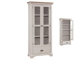 Annaghmore Lyon Stone Painted Oak Large Display Cabinet