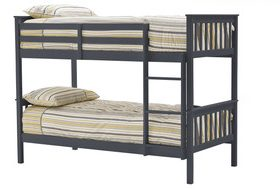 Vida Living Salix Grey Wooden Triple Bunk Beds