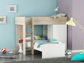 Flair Beds Dylan White Bunk Bed