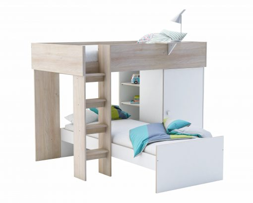 White Dylan Bubhk Bed cWith Wardrobe