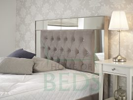 Home Of Beds Reflection Small Double Fabric Bed Frame Headboard