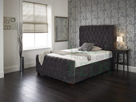 Home Of Beds Victoria Kingsize Velvet Fabric Bed Frame