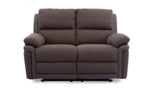 Alexandra 2 Seater Fabric Recliner Sofa - Nutmeg Finish
