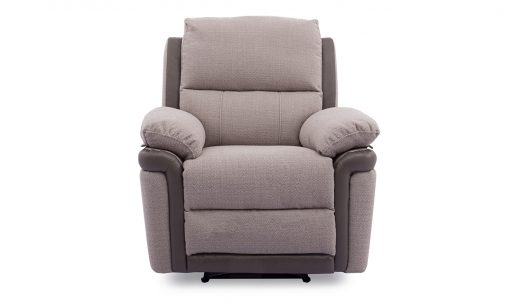 Alexandra Fabric Recliner Chair - Oatmeal Finish